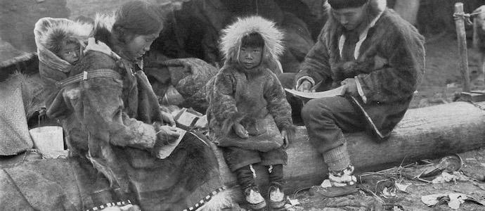 parka porté par des sibériens
